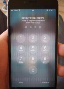 не работает сенсор айфон